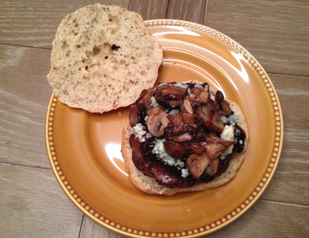 Top Shelf Burger Bleu Cheese Mushrooms Truffle Oil