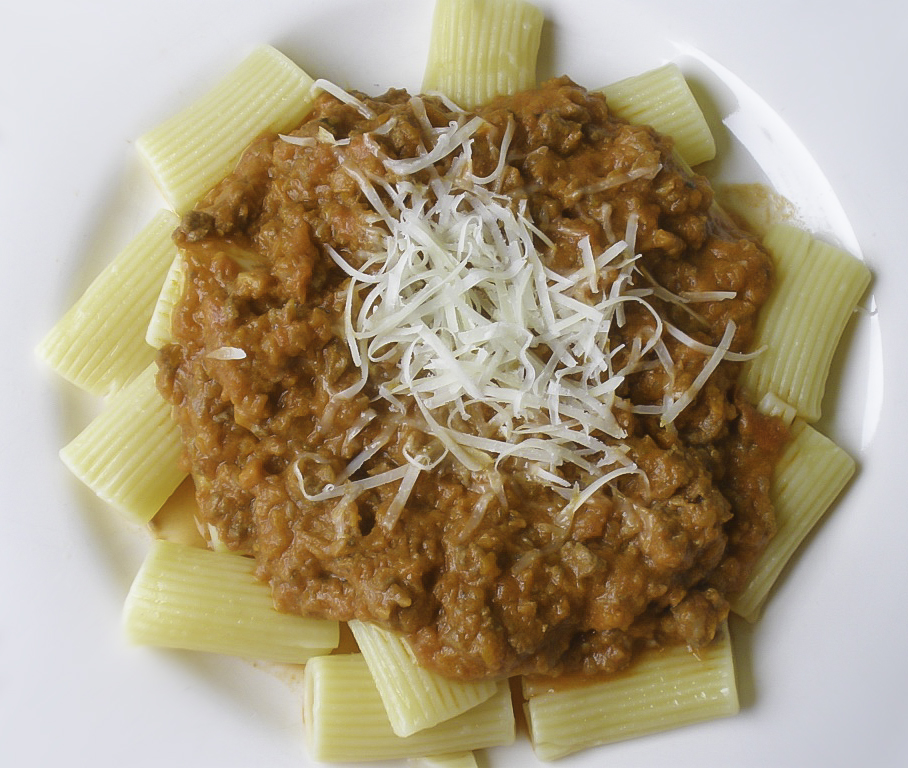 Spicy Rigatoni Bolognese - Made By Michelle